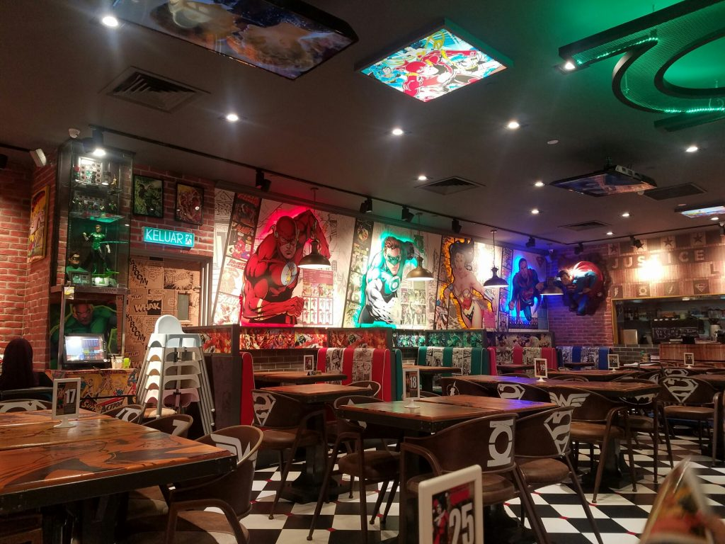 マレーシアスーパーヒーローズカフェジョホールバルシティスクエア2